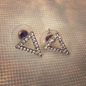 Jewelry - Gold Triangle Earrings
